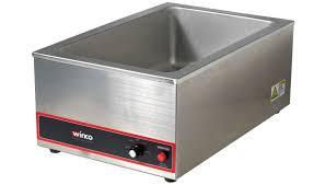 electric steam table countertop winco fw s500 1200 watt countertop electric food warmer