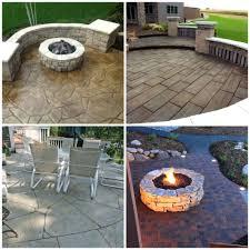 Backyard Cement Patio Ideas Patio Ideas Cinder Block Patio Designs 27 Amazing Stamped