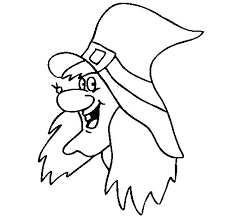 witch coloring page coloringcrew com
