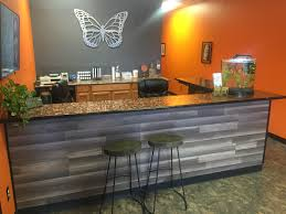 Industrial Reception Desk Diy Penny Top Reception Desk Album On Imgur