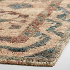 6x9 teal and natural knotted jute zola area rug world market