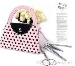 manicure set favors pink polka dot purse manicure set favor novelty wedding bridal