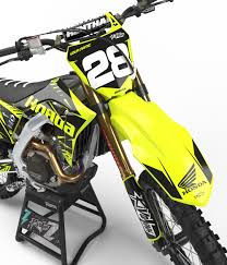 neon motocross gear honda u0027neon u0027 kit rival ink design co custom motocross graphics