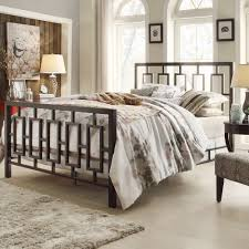 Iron Bedroom Furniture Decorating Iron Bed By Darvin Furniture Outlet With Rug And Chair