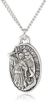 mens necklace pendant images Men 39 s saint michael pendant necklace 20 quot jewelry jpg