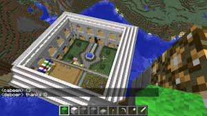minecraft mansion with courtyard server build project the house of