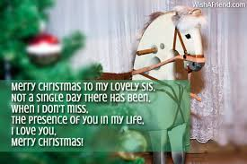 merry christmas lovely sis christmas message sister