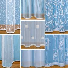 net curtains ebay straight base net curtains with slot top sold by the metre white net voile
