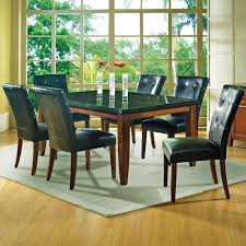 Granite Top Dining Room Table by Steve Silver Granite Bello 7 Piece Contemporary Granite Top Dining