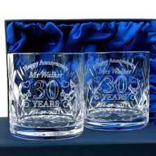 30 wedding anniversary gift personalised engraved whisky glasses pair 30th anniversary