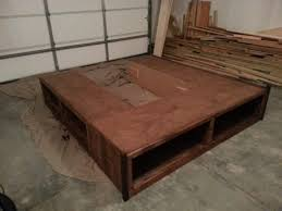Diy King Size Platform Bed Frame by Bed Frames Diy King Platform Bed With Storage Plans King Size