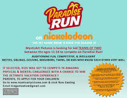 audition for a nickelodeon show u2013 nicks u201cparadise run u201d casting kid