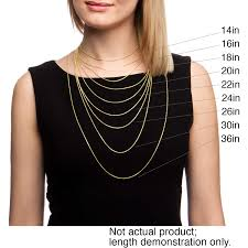 gold chain necklace sizes images Shop 10k yellow gold 3 6 mm figaro link chain 18 24 inches on jpg