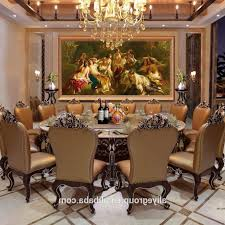 high end dining room sets brown varnish wood tabel orange