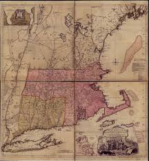 Map New England by The U201cnew England U201d Cartouche Tablets Tableaux And Theatricality