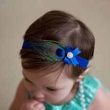 peacock headband 1 pcs kids headband peacock feather rhinestone princess elastic
