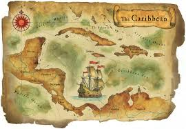 Map Of The Caribbean Sea by Watercolor Maps By Steven Stankiewicz At Coroflot Com
