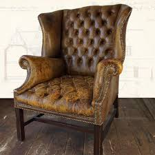 Pottery Barn Leather Dining Chair Furniture Vintage Leather Club Chair For Minimalist Family Room