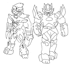 megazord coloring pages free printable power rangers coloring