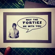 40th Birthday Invitation Cards Funny Star Wars Themed 40th Happy Birthday Greeting Card By