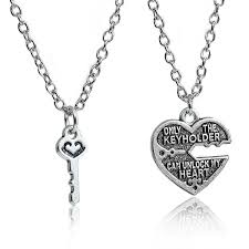couple necklace key images Sexy sparkles 1 set couples necklace only the key jpg