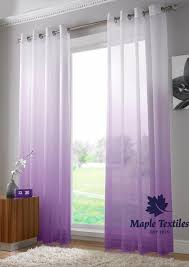 Purple Ombre Curtains Harmony Two Tone Ombre Voile Curtains Ring Top Single Panel Free