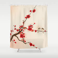 Cherry Blossom Curtains Japanese Shower Curtains Society6