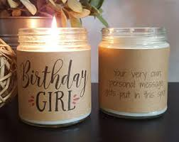 Personalized Birthday Candles Birthday Cake Soy Candle Candles Birthday Candle Gifts For