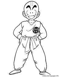 teen krillin dragon ball coloring coloring pages printable