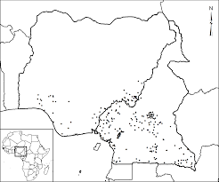 Map Of Nigerian States by Chimpanzee Population Structure In Cameroon And Nigeria Is