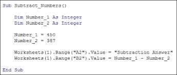 excel vba programming basic mathematical operators addition and
