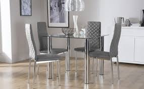 Frosted Glass Dining Table And Chairs Modern Dining Table Sets Glass Chairs At Set Cintascorner