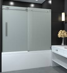 sola frosted tub shower door nezza