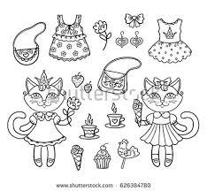 vector illustration outline princess stock vector