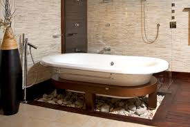 Ceramic Tile Bathroom Ideas Exotic Bathroom Design Combined Hardwood Flooring With Ceramic
