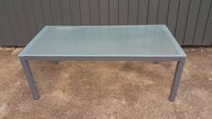 frosted glass coffee table frosted glass amd chrome coffee table coffee tables gumtree