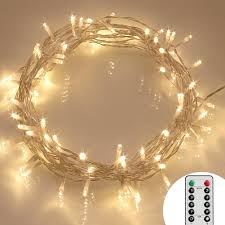 Battery Operated Fairy Lights by Remote And Timer 40 Led Outdoor Fairy Lights 8 Modes Battery