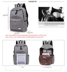 lucky man ws10 backpack with usb phone charger deals coupons u0026