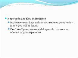 key words in resume interview techniques it industry