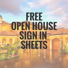 5 simple open house sign in sheet templates for realtors u2013 edit