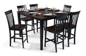 bobs furniture kitchen table set bob s furniture pub table with 18 leaf 6 counter chairs