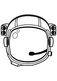 astronaut helmet coloring pages coloringstar