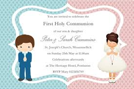 communion invitation personalised communion invitations girl boy new design 1