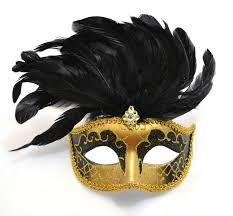 mask with feathers venetian black mask with feathers masquerade mask