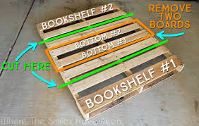 how to make and install pallet bookshelves