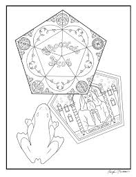 harry potter chocolate frog coloring page by kayliepen on deviantart