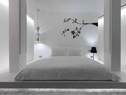 deco chambre adulte blanc design interieur chambre adulte blanche deco murale arbre peinture