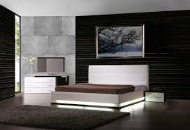 Bedrooms  Lorezo Bedroom Modern Leather Bedroom Furniture Modern - Modern white leather bedroom set
