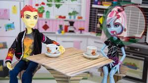 How To Make Doll Kitchen как сделать кухонный стол для куклы How To Make A Kitchen Table