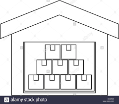 Floor Plan Of A Warehouse by Warehouse Goods Storage Icon Stock Vector Art U0026 Illustration